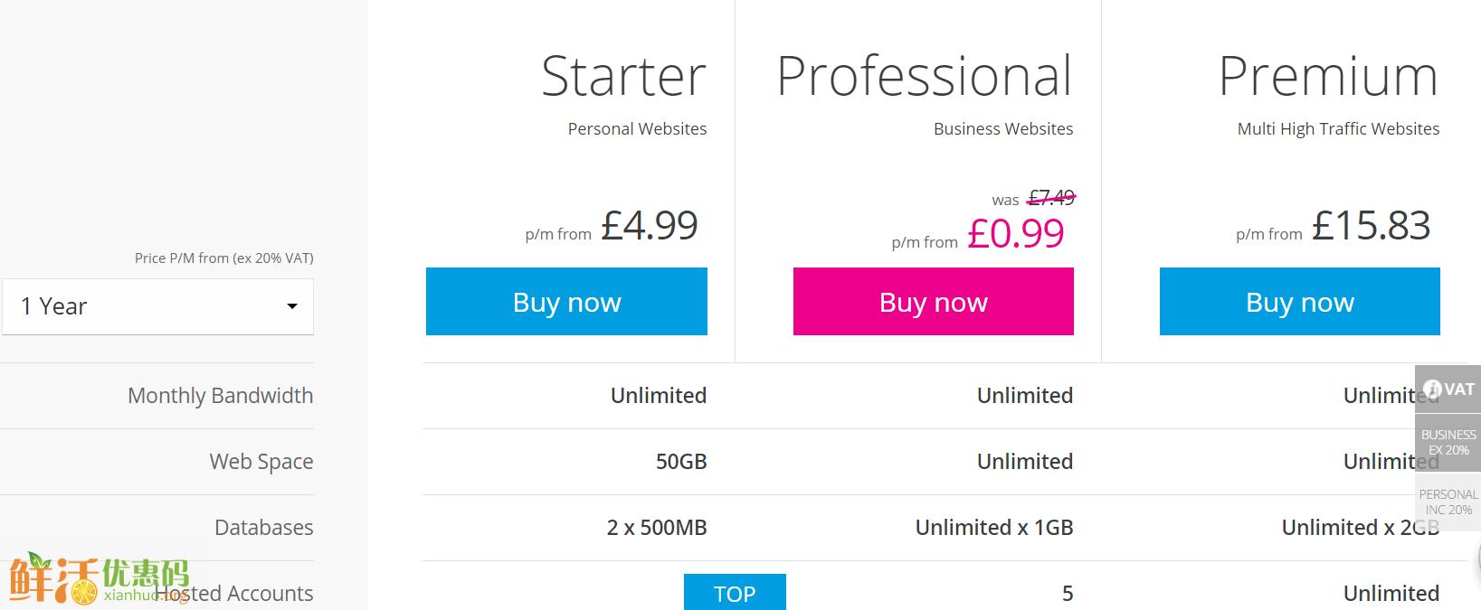 英国names主机 仅需0.99英镑/月 送免费域名