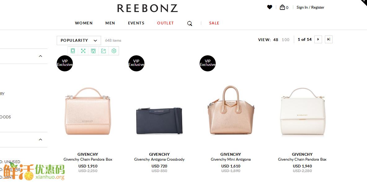 Reebonz优惠码2018-Reebonz官网 现有 大牌美包热卖,低至3折+额外8.5折